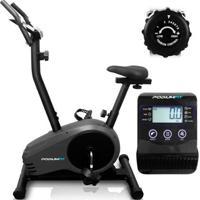 Bicicleta Ergométrica Podiumfit V300 - Magnética - 8Cargas - Max150Kg - Silenciosa - Unissex-Preto
