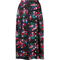 Marc Jacobs Buttoned Floral Skirt - Preto