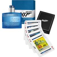 Kit Perfume Eau De Toilette Ocean Royale Masculino James Bond 50Ml + Jogo De Cartas - Masculino