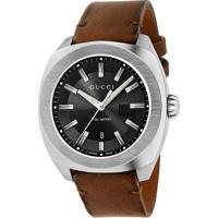 faddb1443d6 Relógio Gucci Masculino Couro Marrom - Ya142207