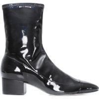 Bota Feminina Sock Boot Verniz - Preto