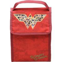 Lancheira Wonder Womanâ®- Vermelha & Dourada- 26X19X1Urban