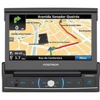 """Dvd Player Automotivo Pósitron Sp6920 Nav Com Tela De 7"""" Touch Retrátil, Tv Digital, Bluetooth, Entradas Hdmi, Sd, Usb, Rádio Am/Fm E Controle Remoto"""