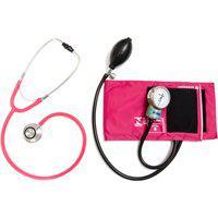 Aparelho De Pressão Rosa Com Esteto Duplo Rosa Cjpa201 Pa Med Adulto