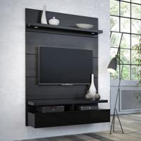 Painel Para Tv 1.2 Horizon Com Led Preto Touch E Preto Gloss
