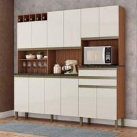 Cozinha Compacta Malbec Prime 12 Pt 2 Gv Marrom E Champagne
