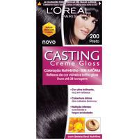 Coloração Permanente Casting Creme Gloss N° 200 Preto L'Oréal 1 Unidade