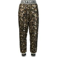 Dolce & Gabbana Sequined Track Trousers - Preto