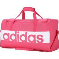 Mala Adidas Linear Performance Duffel M - Rosa/Branco