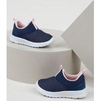 Tênis Infantil Baby Club Knit Calce Fácil Azul Marinho