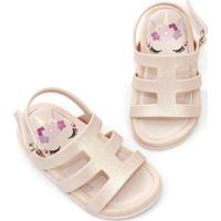 Sandália Infantil Plugt Mini Bizz Unicornio Feminina - Feminino-Rosa