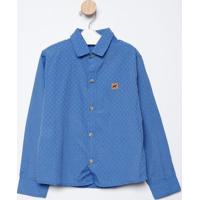 Camisa Maquinetada- Azuloliver