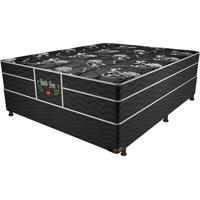 Cama Box Casal Health Sleep – Pelmex - Preto / Prata