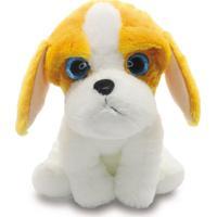 Cachorro De Pelúcia 25Cm - Cavalier King - Unik Toys Branco