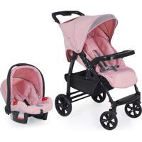 Carrinho De Bebê Travel System Evol-Messina Rosa Burigotto