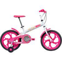 Bicicleta Caloi Ceci - Aro 16 - Freio Cantilever - Feminina - Infantil - Branco/Rosa