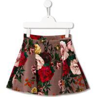 Dolce & Gabbana Kids Saia Com Estampa Floral - Rosa