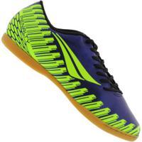 Chuteira Futsal Penalty Storm Speed Ix Ic - Adulto - Azul Esc/Amarelo