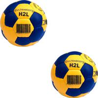 Kit 2 - Bola Handball (Handebol) H2 Kaemy Amarela/Azul