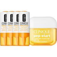Kit Facial Clinique Fresh Pressed Vitamina C + Hidratante Pep Start Hydrorush