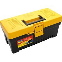 Caixa Plástica Para Ferramentas Utility Preta E Amarela 13 L
