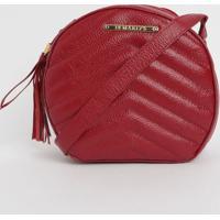 Bolsa Em Couro Matelassê Com Bag Charm- Vermelha- 20Di Marlys