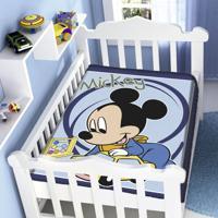 Cobertor Infantil Jolitex Raschel Mickey Carrinho Azul