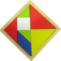 Tangram De Madeira Kits E Gifts Multicolorido
