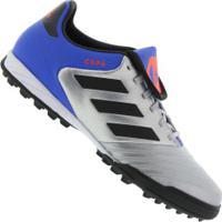 2c78568778 Chuteira Society Adidas Copa Tango 18.3 Tf - Adulto - Prata Preto