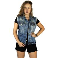 Colete Jeans Clothify Denim Azul - Azul - Feminino - Dafiti