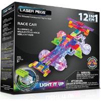 Blocos De Montar Laser Pegs Carro De Corrida 12 Em 1 Branco