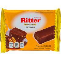 Barra De Cereais Ritter Brownie Com 3 Unidades De 25G Cada