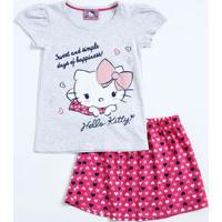 Conjunto Infantil Hello Kitty Manga Curta Sanrio