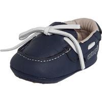 Sapato Ortopé Pespontos Azul