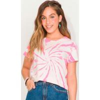 Blusa Tie Dye Feminino Rosa