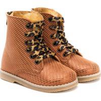 Babywalker Pompom Lace-Up Boots - Neutro
