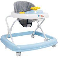 Andador - Branco E Azul - Styll Baby
