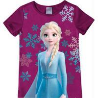 Blusa Roxa Elsa Frozen®