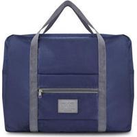 Bolsa Jacki Design De Viagem Dobrável Gg De Poliéster - Unissex-Azul