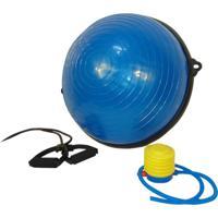 Bosu Ball Meia Bola Bosu Para Pilates E Yoga Corda Puxador - Wct Fitness Roxo