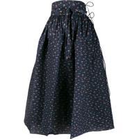 Horror Vacui Goldilocks Floral Print Skirt - Azul