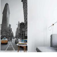 Painel Fotográfico Adesivo New York Aveneu 2,6Mts X 1,22M Grudado Adesivos