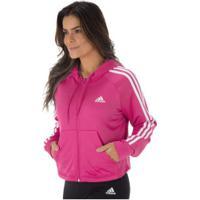 Agasalho Com Capuz Adidas Wts Hoodytight - Feminino - Rosa Esc/Preto