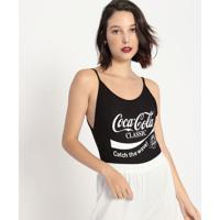 """Body """"Coca-Cola®""""- Preto & Branco- Coca-Colacoca-Cola"""
