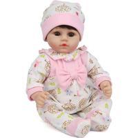 Boneca Laura Baby Luna - Castanho Escuro- 42X18X9Cmshiny Toys
