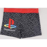 Sunga Infantil Boxer Playstation Preta