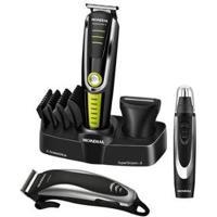 Kit Aparador De Pelos Barba E Cabelo Mondial - Unissex-Preto+Verde