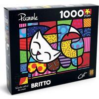 Quebra-Cabeça Romero Britto - Cat - 1000 Peças - Grow - Unissex-Incolor