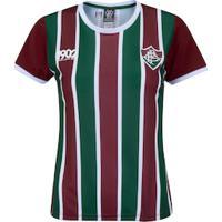 Camiseta Do Fluminense Attract - Feminina - Vinho/Verde