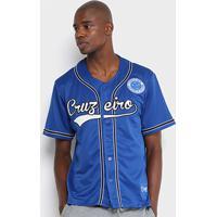 3b44b0fb7775c Netshoes  Camisa Cruzeiro Baseball Masculina - Masculino